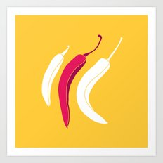 simply chillies // Pop Art Art Print
