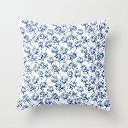 Lotus Pattern Throw Pillow