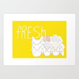 Fresh Eggs Art Print