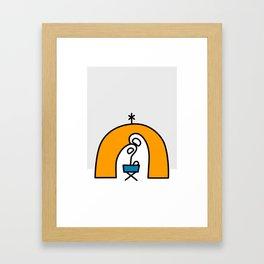 nativity scene christmas card Framed Art Print