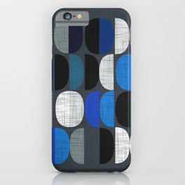 Mo Moons Blue iPhone Case