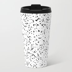 Speckles I: Double Black on White Travel Mug