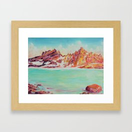 Broken Top Lake Framed Art Print