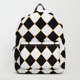 Chess board with golden threads Backpack