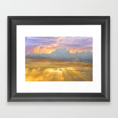 Don't Be Afraid of the Clouds...They're Filtering Out the Gold Framed Art Print