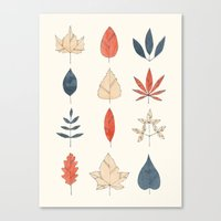 leaves Canvas Prints featuring Leaves by Tracie Andrews