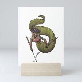 Sea Monster Maid Mini Art Print