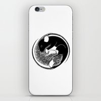 ying yang iPhone & iPod Skins featuring Ying & Yang by Brittany Rae