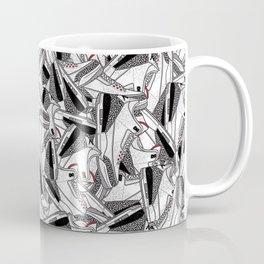Air Jordan 3 White Cement - Collage Print Coffee Mug