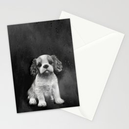 King Charles Spaniel puppy Stationery Cards