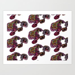 abstract poof Art Print