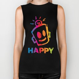 HAPPY  Stripes Biker Tank