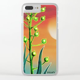 Wild plant at sunset Clear iPhone Case