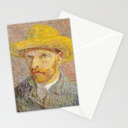 Self-Portrait with a Straw Hat Stationery Cards