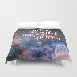 Victor Hugo Writer Quote Duvet Cover
