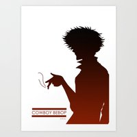 cowboy bebop Art Prints featuring Cowboy Bebop by AWAL