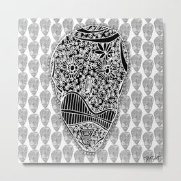 """""""Viva Robotico 5"""" - skulls Metal Print"""