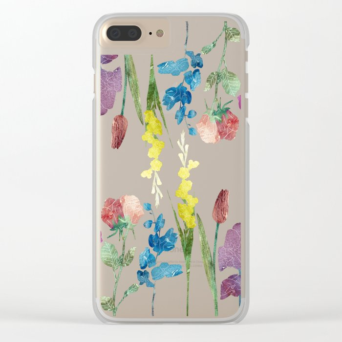 New Flowers at Night Clear iPhone Case