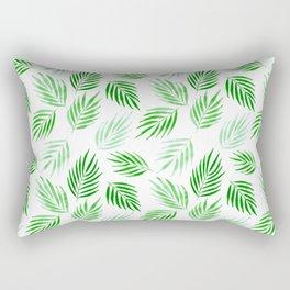 Tropical areca palms pattern in green Rectangular Pillow