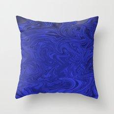Blue swirls  Throw Pillow
