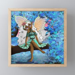 Cute African American Fairy Framed Mini Art Print