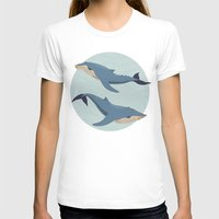 whales T-shirts featuring Whales by Evgeniya Ivanova