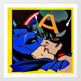 Cap kissing Bruce Art Print