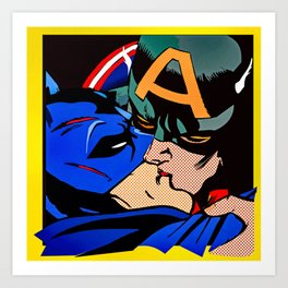 Cap kissing Bruce Art Print