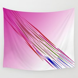 wild lines tiger pink Wall Tapestry