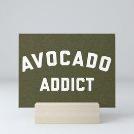 Avocado Addict Funny Quote Mini Art Print