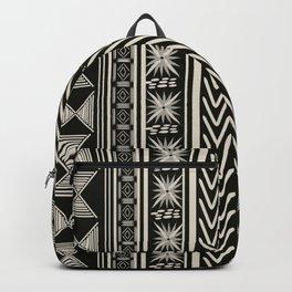 Boho Mud cloth (Black and White) Backpack