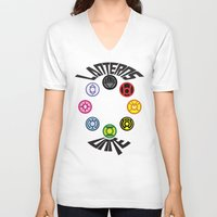 lanterns V-neck T-shirts featuring Lanterns Unite by CJones5105