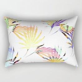 Vibrant Jungle Palmetto Fronds Rectangular Pillow