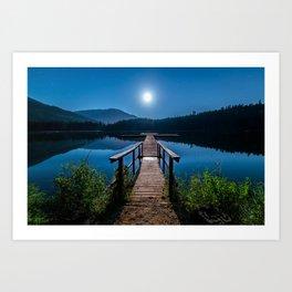 Bright Night Sky at British Columbia Art Print