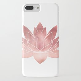 Pink Lotus Flower | Watercolor Texture iPhone Case