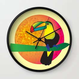 Toucan -Yellow Wall Clock