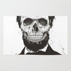 Dead Lincoln (b&w) Rug