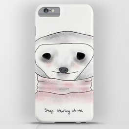 self-conscious sloth iPhone Case