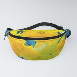 FlowerPower yellow and blue Fanny Pack