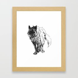 Dark Wolf Framed Art Print