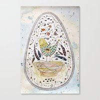 egg Canvas Prints featuring Egg by Infra_milk