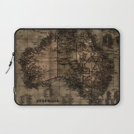 Vintage Map of Australia Laptop Sleeve