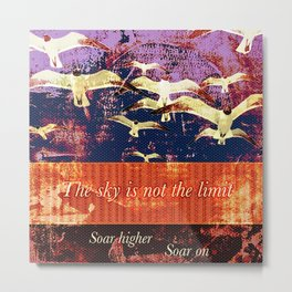 Soar On Metal Print
