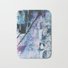 Breathe [4]: colorful abstract in black, blue, purple, gold and white Bath Mat