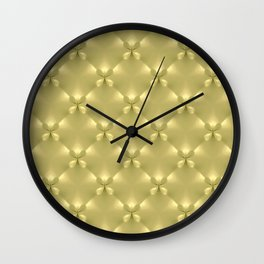 Bright Gold Studded Quilt Repeat Pattern Wall Clock