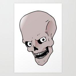 Skull Skeleton Art Print