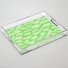 Overlapping Leaves - Light Green Acrylic Tray