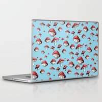 mushrooms Laptop & iPad Skins featuring Mushrooms by Rhoar