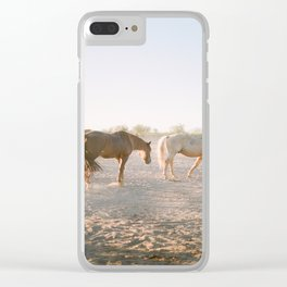 Relaxing at sunset Clear iPhone Case