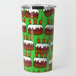 Birthday Cake Background Design Travel Mug